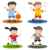 1 samling lurar sporten Arkivfoto