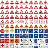 1 samling undertecknar trafik Arkivfoto
