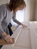 1 sanding för dörr Arkivbilder