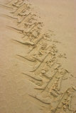 1 sandtracetraktor Royaltyfria Bilder