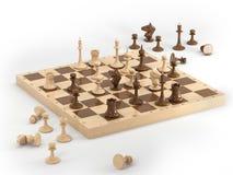 1 schack stock illustrationer