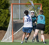 1. Schuß des MädchenLacrosse Stockfoto