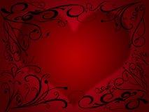 1 serce Zdjęcia Stock