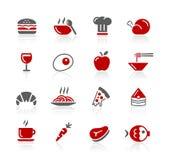 1 set för 2 serie för matsymbolsredico stock illustrationer