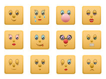 1 set smiley squares Στοκ εικόνες με δικαίωμα ελεύθερης χρήσης