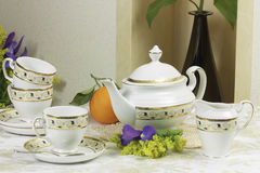 1 set tea Royaltyfri Foto