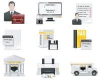 1 set vektor bankrörelsesymbolsför online-del Royaltyfri Bild