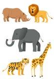 1 set wild för djursymbol Arkivbilder
