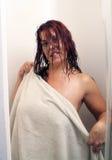1 sexiga dusch för redhead Royaltyfria Foton