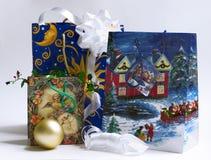 1 shoppa för jul Arkivbild