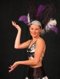 1 showgirl vegas fotografering för bildbyråer