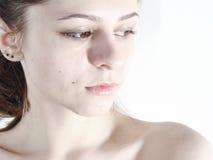 1 skönhetwhite Arkivbilder