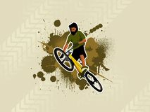 1 skok bicyle Obraz Royalty Free