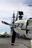 A-1 Skyraider на борту USS Мидуэй Стоковое Изображение RF