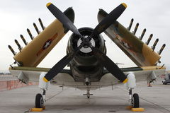 A-1 Skyraider frontale mening Royalty-vrije Stock Afbeeldingen
