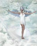 1 snowangel 免版税库存照片