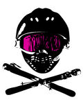 1 snowboard маски Стоковое Фото