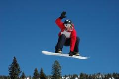 1 snowboard скачки Стоковая Фотография RF