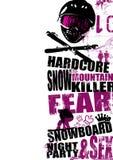 1 snowboard de fond Photographie stock libre de droits