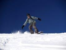 1 snowboarder Royaltyfria Bilder