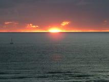 1 solnedgång Arkivbild