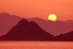 1 solnedgång Fotografering för Bildbyråer