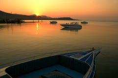 1 solnedgång Arkivfoto