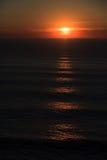 1 solnedgång för ca-kustväg Arkivfoto