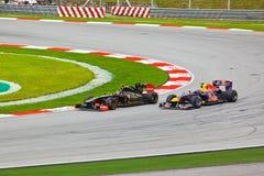 1 spår för bilformelrace Royaltyfria Bilder