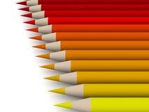 1 spectrum för färgcrayonred Royaltyfri Fotografi