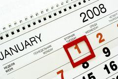 Free 1-st January 2008 Royalty Free Stock Images - 3063809