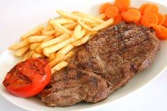 1 stek, frytki Obraz Royalty Free