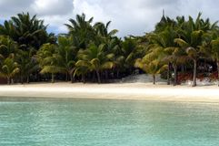 1 strand mauritius Arkivbild