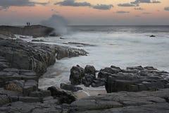 1 strandfiskaresheffield solnedgång Royaltyfria Foton