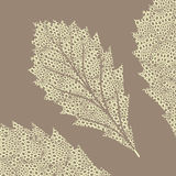 1 stylized leaf Royaltyfria Bilder