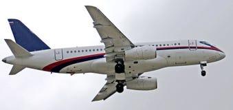 1 superjet för sukhoi 100 Royaltyfri Fotografi