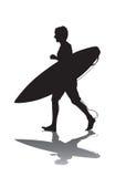 1 surf biegająca Fotografia Royalty Free