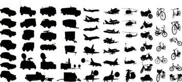 (1) sylwetki transportu wektor ilustracji