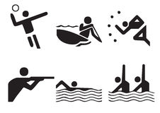 1 symbole sportowy położenie Zdjęcie Stock