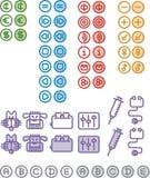 1 symbolsnummer Arkivbilder
