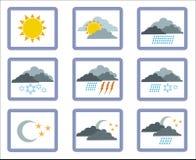 1 symbolsväder stock illustrationer