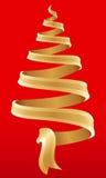 1 symbolu świąteczne drzewko Fotografia Stock