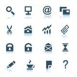 (1) szarość ikon internetów część Zdjęcie Stock