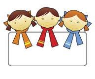 (1) szczęśliwi dzieciaki royalty ilustracja