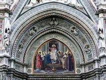 1 szczegół katedralny Florence zdjęcie stock