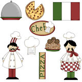 (1) szef kuchni grafika włoskie Zdjęcia Royalty Free