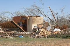 1 a szkody tornado. Obrazy Royalty Free