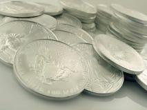 (1) sztaby monet orzeł s srebny u Fotografia Royalty Free