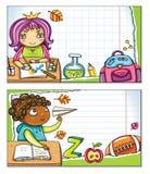 (1) sztandarów dzieci śliczna część szkoła royalty ilustracja