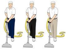 (1) sztuki dywanowej cleaning klamerki ustalona technika Royalty Ilustracja